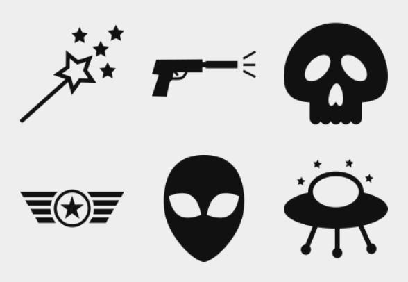 Movie Genre Symbols Icons By Creative Vip