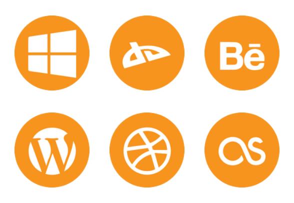 orange social icons icons by brian ondari