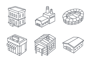 3D Buildings Outlines