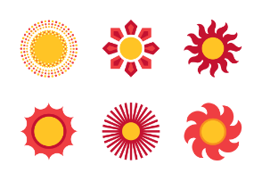 Red & Yellow Suns