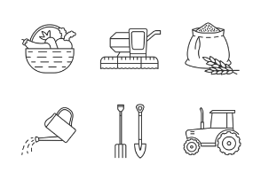 Agriculture. Linear. Outline