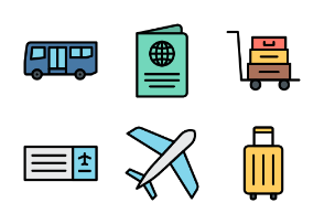 Airport (Filled Outline)