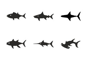 All types of fishes