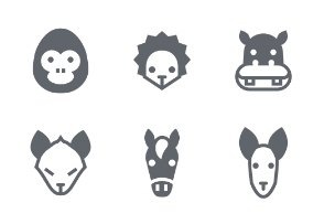 Animal Fill icons set
