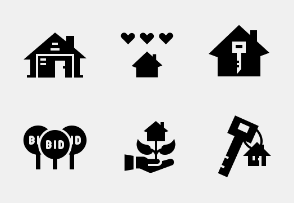 Apartment and Property Glyph