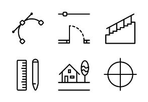 Architect's workplace (line)