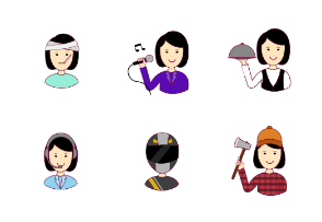 Asian woman professions