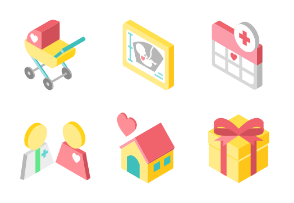 Baby and pregnancy isometric - New life