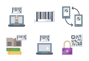 Barcode and QR code Flaticons