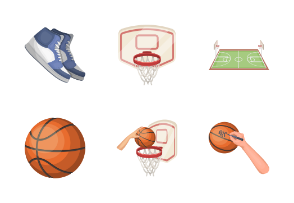 Basketball in cartoon style