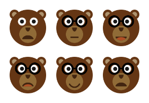 Bear Face Set Volume 1