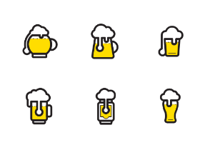 Beer icons colour