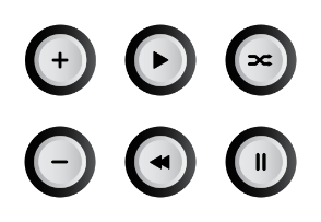 Black And White Music Button