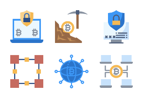 Blockchain And Fintech Flaticons