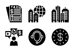 Business and Finance Glyph 10