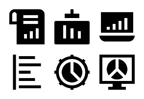 Business Charts and Diagrams Glyph