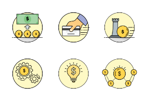 Business & Finance Colored Icons