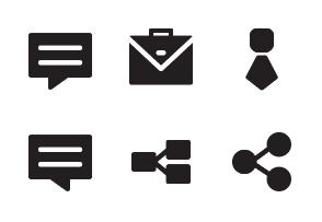 Business Finance Glyph