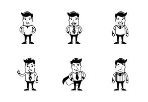 Businessman Character - black