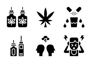 Cannabidiol Oil Glyph
