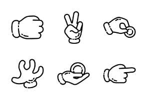 Cartoon Hand Gestures