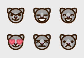 Cat emoji faces