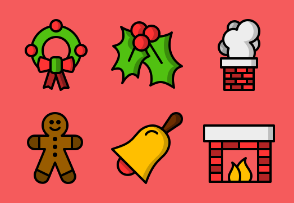 Christmas - Colored, Outlined, Pixel Perfect