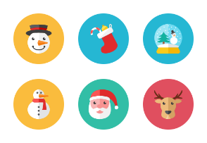Christmas Icons - Rounded