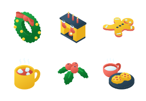Christmas Isometric - Santa Claus is coming