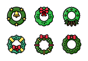 Christmas wreath (filled)