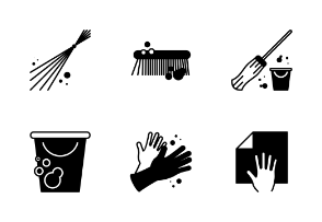 House Cleaning Equipment - Glyph