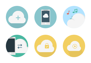 Clouds flat icons