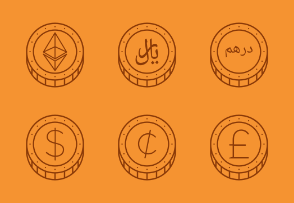 Coins & Currencies (Outline)