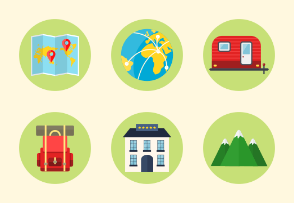 Colored Icons - Travel