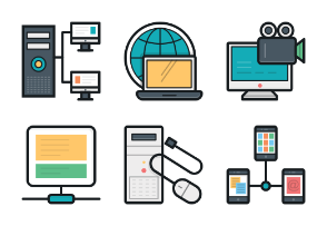 Colored Vector Icons 7