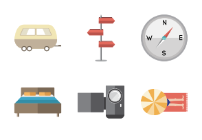 Coloured vacation elements
