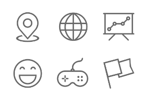 Commonly used flat line icon