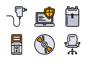 Computer Accessories Filled Outline