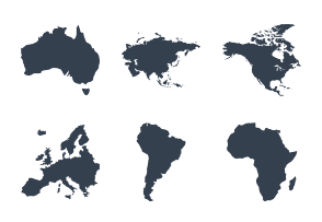 Continents Icons