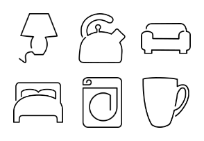 Continuous Line Household Items