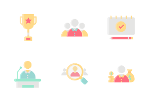 Corporate Business Without Outline Iconset