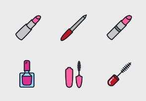 Cosmetics, Beauty Salon, Barbershop Colored