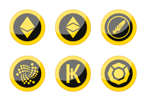Cryptocurrency buttons.
