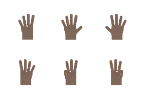 Dark brown hand gestures