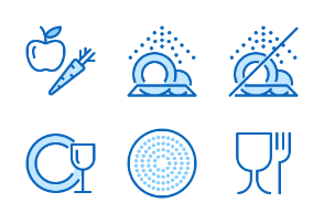 Dishes Signs - Blue line
