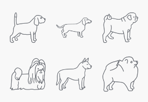Dogs Outlines