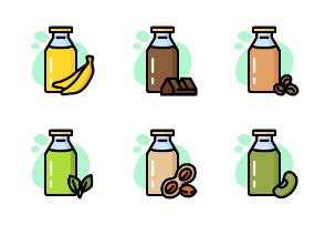 Drink Milk Bottle - Color