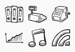 e-commerce Hand Drawn Icons
