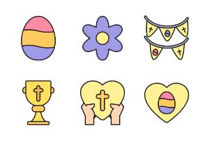 Easter Day - Filled Outline