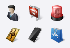 E-commerce & business icons